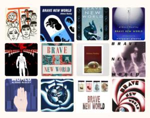Farklı tasarımlarla Cesur Yeni Dünya kitap kapakları